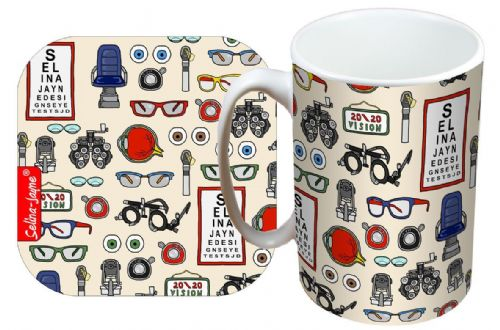 Selina-Jayne Opticians Limited Edition Designer Mug and Coaster Set